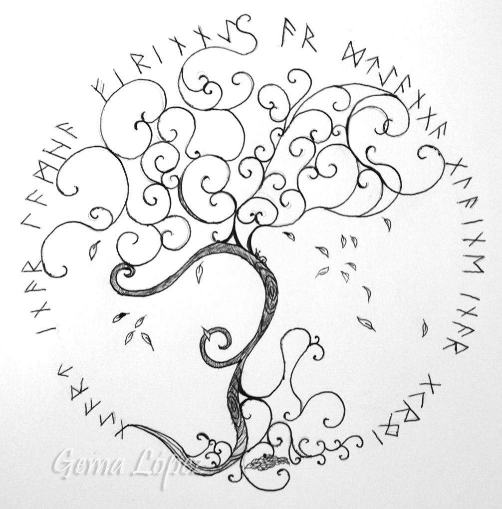 árbol De La Vida Celta Con Frase Gema López Clases De